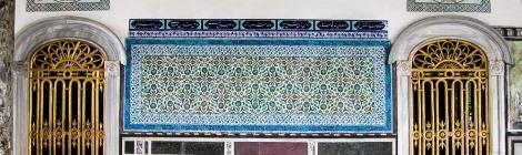 Iznik ceramic work at TopKapi Palace, Istanbul
