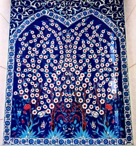 Iznik ceramic art, Sheikh Zayed Grand Mosque, Abu Dhabi