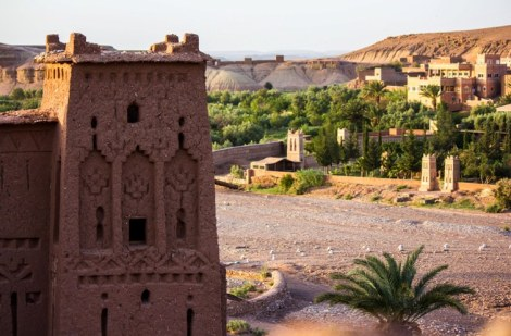Ben Haddou Ksar with new town
