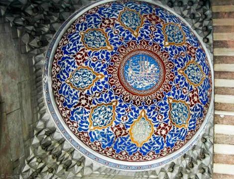 Iznik ceramic work at Blue Mosque, Istanbul
