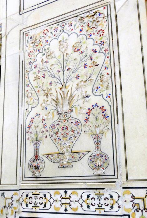 INlays on Marble walls of the Lahore fort/ Pakistan
