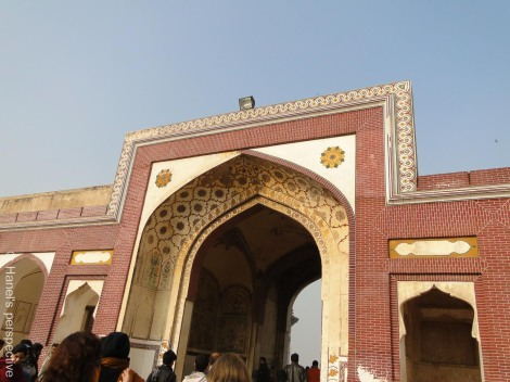 Arch towards the queen's palace, the Sheesh Mahal, Lahore, Pakistan