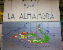 Alhambra by night: main entrance