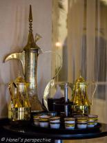 """Kehwa or green Arabic Coffee with Almond filled Dates! Almost a Gourmet Entree, Refreshment or """"after-dinner-drink-and-bite"""""""
