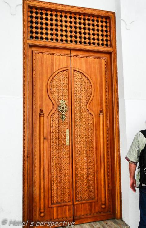 a beautiful wooden carved door in the Judeira