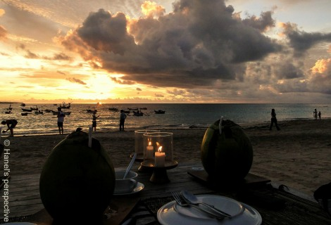 Sunset Dinner at Jimbaran Beach