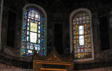Arches windows of the Hagia Sofia
