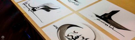 Calligraphies by Hassan Massoudy