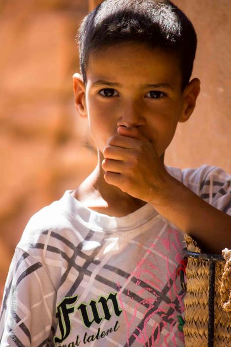 shy Berber Boy, Morocco