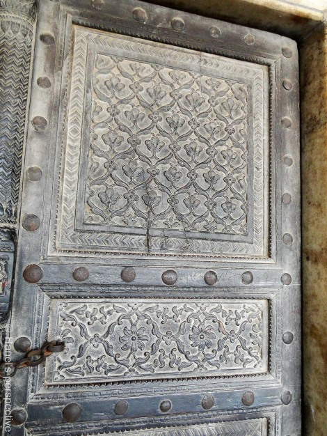 Squares with floral designs