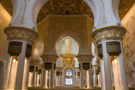 Abu Dhani Mosque, inside the main hall