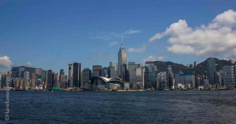 Taken from the Ferry: Hong Kong Island, at early morning